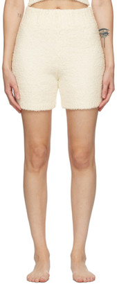 SKIMS Off-White Knit Cozy Shorts