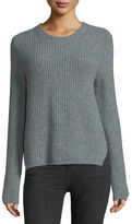 Rag & Bone Francie Crewneck Pullover Wool Sweater w/ Elbow Patches