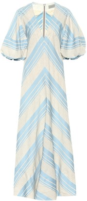 Lee Mathews Tilda linen and cotton maxi dress