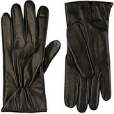 Barneys New York MEN'S CASHMERE-LINED NAPPA LEATHER GLOVES