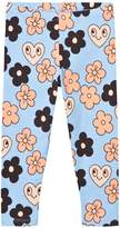 Mini Rodini Light Blue Flowers Leggings