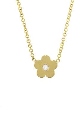 Jennifer Meyer Mini Diamond Daisy Necklace - Yellow Gold