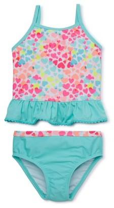 Wonder Nation Little Girls Toddler Hooded Swimsuit Cover Up