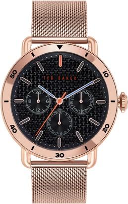 Ted Baker Men's Margarit Mesh Bracelet Watch, 46mm