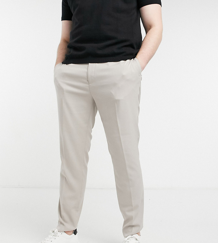 Thumbnail for your product : Topman Big & Tall skinny suit trouser in stone