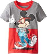 Disney Little Boys' Mickey Mouse Toddler Boys Split Tee