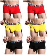 YKC JINSHI Men's Bamboo Boxer Briefs Short Leg Funny Waistband X-Large