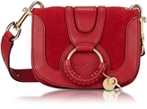 See by Chloe Hana Red Velvet Leather & Suede Small Crossbody Bag