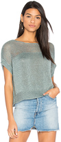 Charli Lunetta Short Sleeve Sweater in Green.
