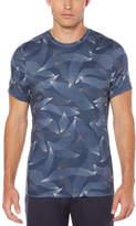 Perry Ellis Active Slim Printed Short Sleeve Crew Knit Shirt