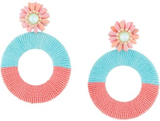 MaryJane Claverol Beaded Oversize Earrings