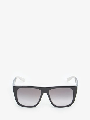 Alexander McQueen Court Rectangular Sunglasses
