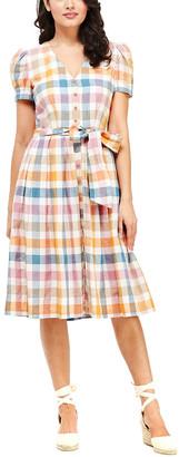 Gal Meets Glam Linen-Blend Mini Dress