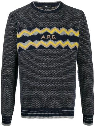 A.P.C. Intarsia Logo Wool Jumper