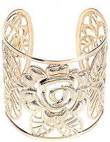 Natasha Accessories Rosey Posey Cuff Bracelet