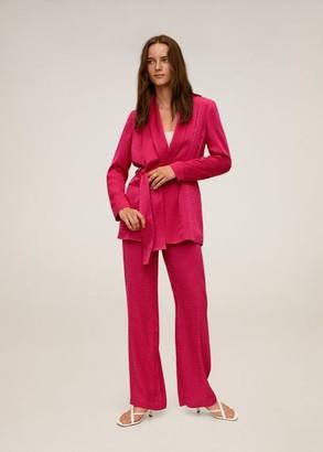 MANGO Bow suit blazer fuchsia - S - Women