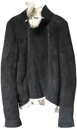 Maison Margiela Anthracite Suede Leather jackets