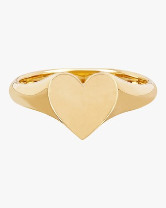 Ef Collection Heart Signet Pinky Ring
