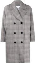 Ganni Oversized Check Print Coat