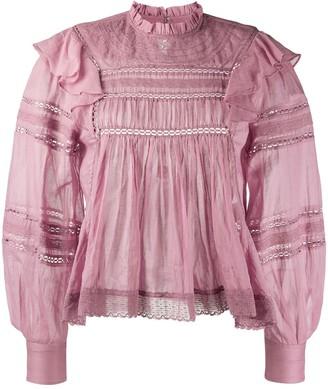 Etoile Isabel Marant Viviana ruffle-trimmed cotton blouse
