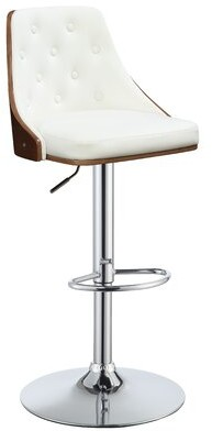 Corrigan Studioâ® Runge Upholstered Adjustable Height Bar Stool Corrigan StudioA