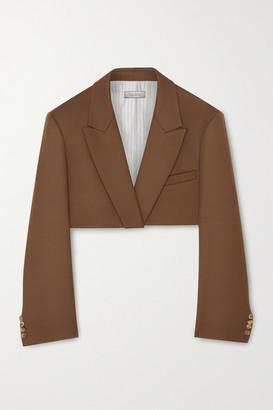 Nina Ricci Cropped Wool Blazer - Light brown