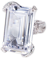 CZ by Kenneth Jay Lane - Pave Prong Emerald Cut Ring
