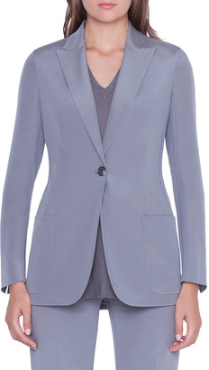 Akris Amandine One-Button Silk Jacket