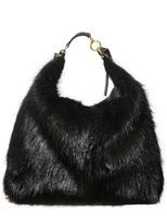 Marni Large Beaver Fur & Leather Backpack