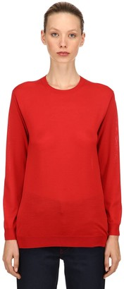 Prada Brushed Virgin Wool Knit Sweater