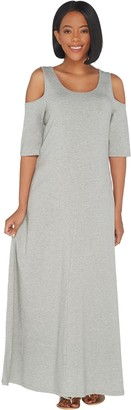 Belle By Kim Gravel TripleLuxe Knit Elbow Sleeve Dress