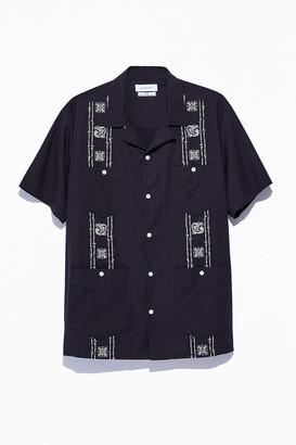 Urban Outfitters 50s Guayabera Short Sleeve Button-Down Shirt
