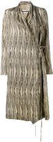Uma Wang - Cayman wrap coat - women - Cupro - S