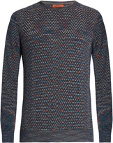 Missoni Crew-neck chevron-intarsia sweater