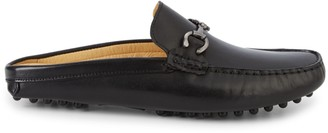 Saks Fifth Avenue Leather Backless Driving Loafers