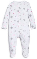 Angel Dear Infant Girls' Fishing Lamb Print Footie - Sizes 0-12 Months