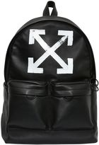 Off-White Brushed Arrows Leather Backpack