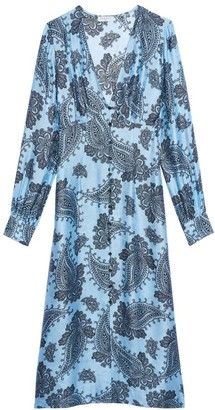 Sandro Beane Paisley-Print Midi Dress