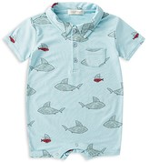 Angel Dear Boys' Shark Print Romper - Baby
