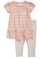 Nordstrom Peplum Dress & Leggings Set (Baby Girls)