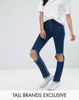 Daisy Street Tall Skinny Jean With Busted Knee