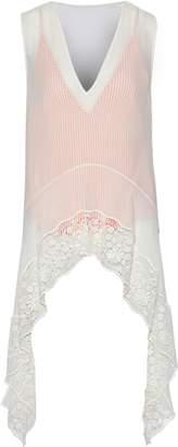 Altuzarra Didy Draped Guipure Lace-paneled Silk-chiffon Top