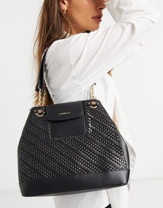 Fiorelli Chrissy shoulder bag in black weave