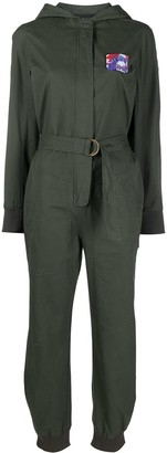Mr & Mrs Italy embroidered patches D-ring jumpsuit