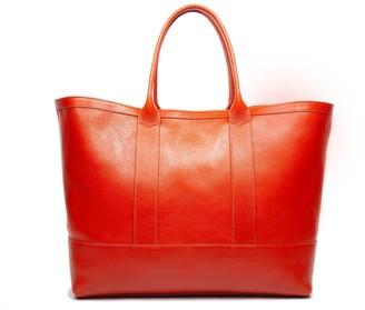 Lotuff Leather Working Tote II in Orange