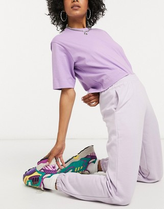 New Look cuffed jogger in lilac