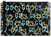 Gucci GucciGhost printed leather clutch