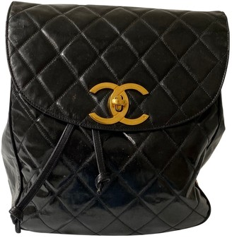 Chanel Black Patent leather Backpacks