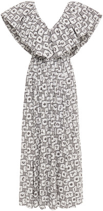 Emilia Wickstead Jarvis Fil Coupe Printed Cotton-blend Maxi Dress