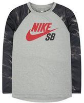 Nike Boy's Print-Blocked Raglan Tee